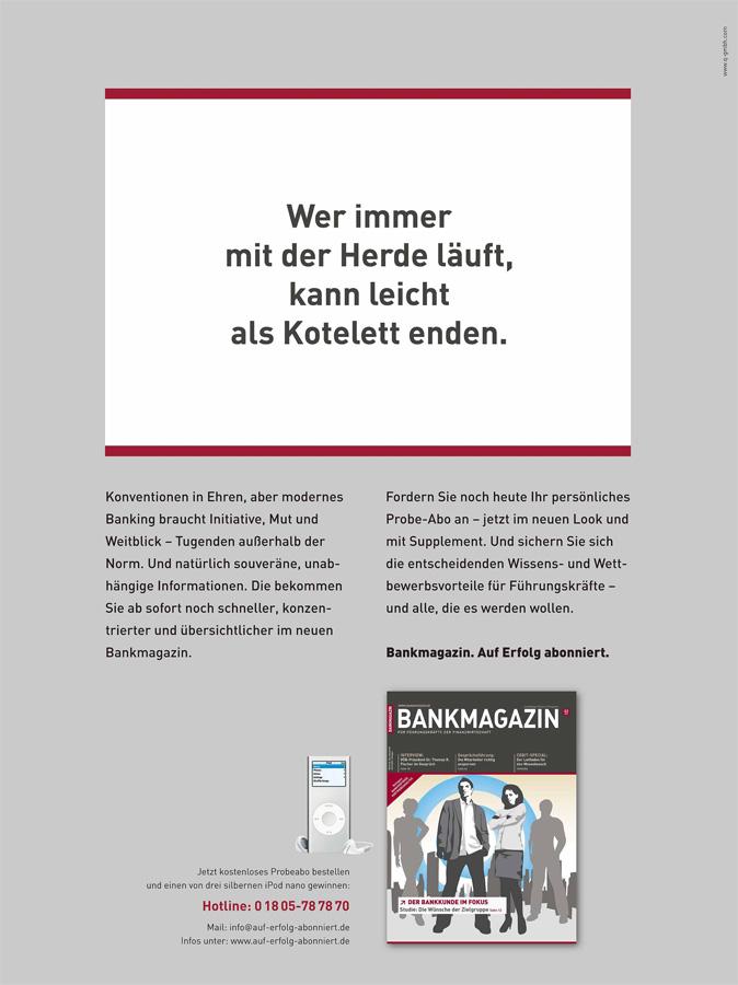 Bankmagazin-Abo-Anzeige